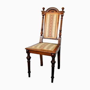 Antique Carved Wooden Chair, 1890s