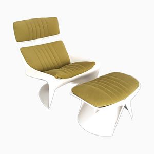 Meteor Lounge Chair & Ottoman by Steen Ostergaard for Cado, 1968