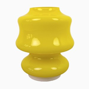 Vintage German Yellow Glass Table Lamp, 1960s