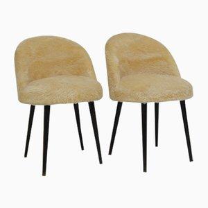 Chaises en Peau de Mouton, 1960s, Set de 2