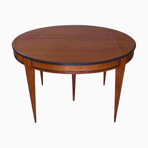 19th-Century Biedermeier German Cherry Veneer Extendable Table