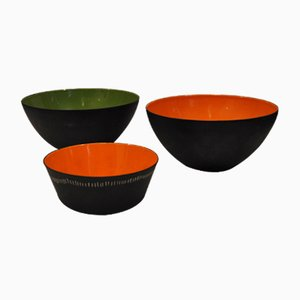 Krenit Bowls by Herbert Krenchel for Torben Ørskov, 1953, Set of 3