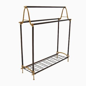 Brass and Copper Towel Rail, 1930s