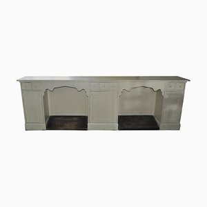 Antique Painted Barber Shop Counter, 1900s