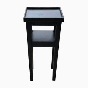 Petite Table d'Appoint Art Déco Noire, 1930s