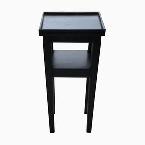 Small Art Deco Black Side Table, 1930s