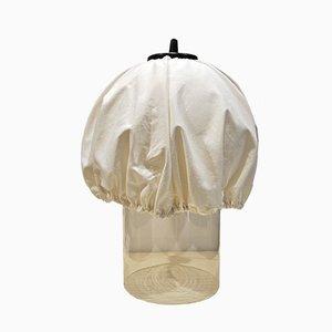 Lampada da tavolo in vetro di Murano e stoffa di VeArt, anni '70