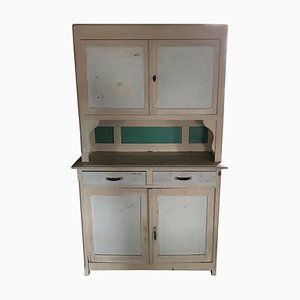 Large Art Deco Painted Kitchen Cupboard, 1930s