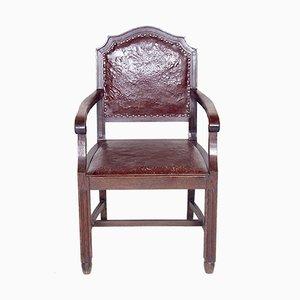 Vintage Wooden Armchair, 1920s