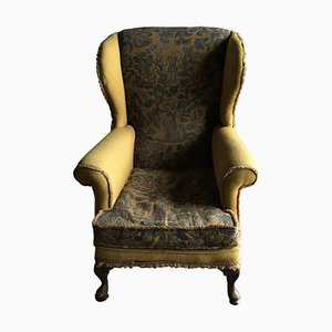 Edwardian English Wingback Chair, 1910s