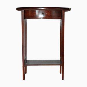 Consolle o tavolino Art Nouveau piccolo con cassetto