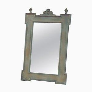 Antiker deutscher Spiegel mit Holzrahmen
