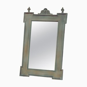 Antique German Wooden Mirror