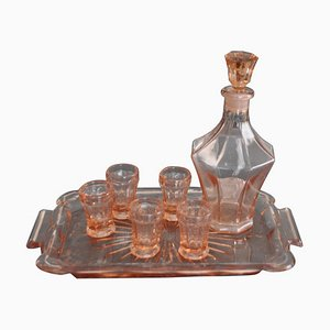 Art Deco Czech Liqueur Tableware Set, 1930s