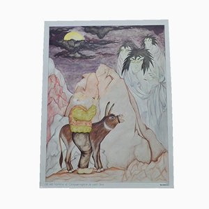 Affiche Scolaire La Rhapsodie Hongroise & Le Vieil homme et Croquemignon par C. Aubin pour Scolavox, 1960s