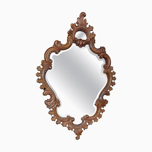 19th-Century Carved Wood Wall Mirror, 1880s
