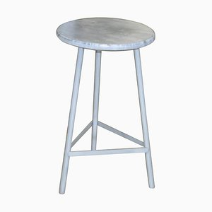 Mid-Century Industrial Hungarian Round Metal Stool, 1960s