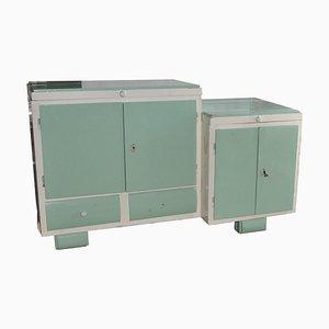Art Deco Washstand & Cabinet, 1930s