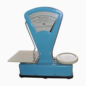 Vintage Dusty Blue Market Scale, 1960s