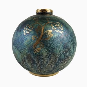 Art Deco Globe Vase by Josef Ekberg for Gustavsberg, 1920s