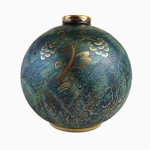 Jarrón Globe Art Déco de Josef Ekberg para Gustavsberg, años 20