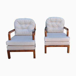 French Art Deco Chairs, 1930s, Set of 2