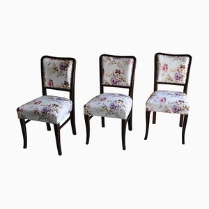 Art Deco Dining Chairs, 1930s, Set of 3