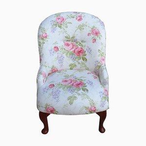 Floraler Vintage Sessel, 1950er