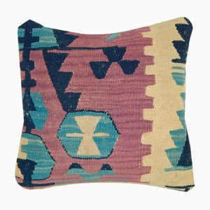Turkish Handwoven Kilim Throw Pillow Cover from Vintage Pillow Store Contemporary