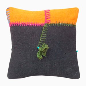 Embroidered Orange Kilim Cushion Cover from Vintage Pillow Store Contemporary, 2010s