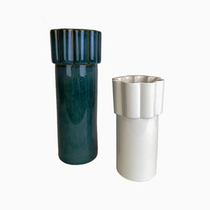 Scandinavian Konvex Vases by Karin Björquist for Gustavsberg, 1960s, Set of 2