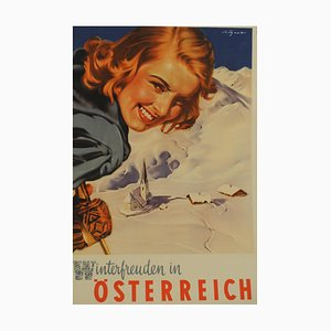 Póster de esquí vintage de Aigner, 1949
