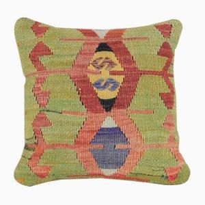 Hangewebter bohemer Kelim Kissenbezug von Vintage Pillow Store Contemporary