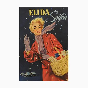 Elida Seifen Poster, 1950er
