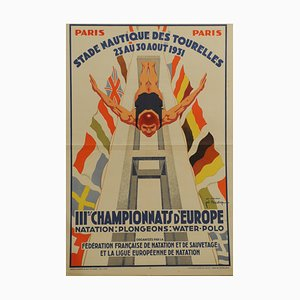 Parisian Nautical Stadium Tourelle Poster, 1931