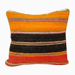 Türkischer Kelim Kissenbezug in Orange von Vintage Pillow Store Contemporary, 2010er