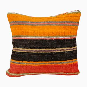 Turkish Orange Kilim Pillow Cover from Vintage Pillow Store Contemporary, 2010s