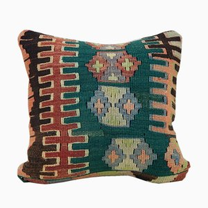 Green Square Kilim Pillow Cover from Vintage Pillow Store Contemporary