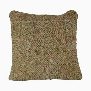 Taie d'oreiller Kilim Pale Muted de Vintage Pillow Store Contemporary, Turquie