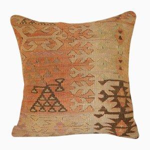 Türkischer Gedämpfter Kelim Kissenbezug von Vintage Pillow Store Contemporary