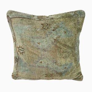 Gedämpfter Oushak Ushak Kurzflor-Teppich von Vintage Pillow Store Contemporary
