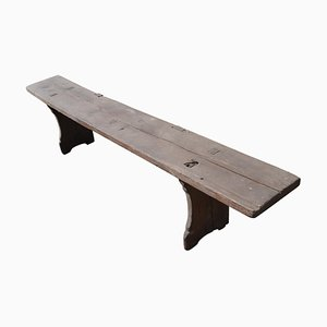 Long Antique Wooden Bench, 1890s