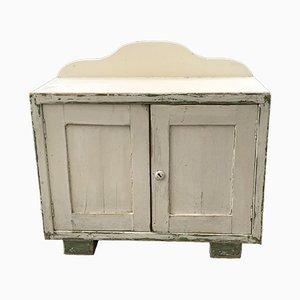 Vintage White Pine Storage Cabinet, 1920s