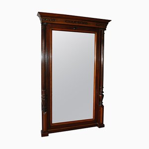 19th-Century Mahogany Mirror