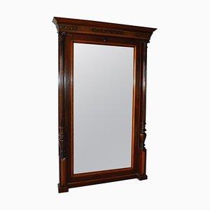 Spiegel mit Rahmen aus Mahagoni, 19. Jh.