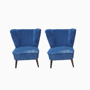 Blue Cocktail Chairs, 1950s, Set of 2