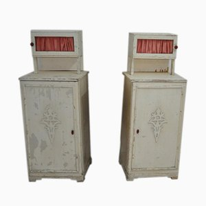 Antique Hungarian Nightstands, Set of 2