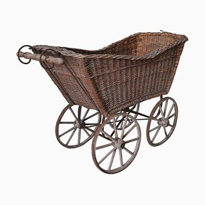 Wicker & Wood Pram, 1930s