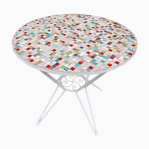 Mesa vintage con mosaico de azulejos