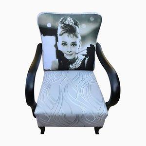 Art Deco Audrey Hepburn Armchair, 1920s